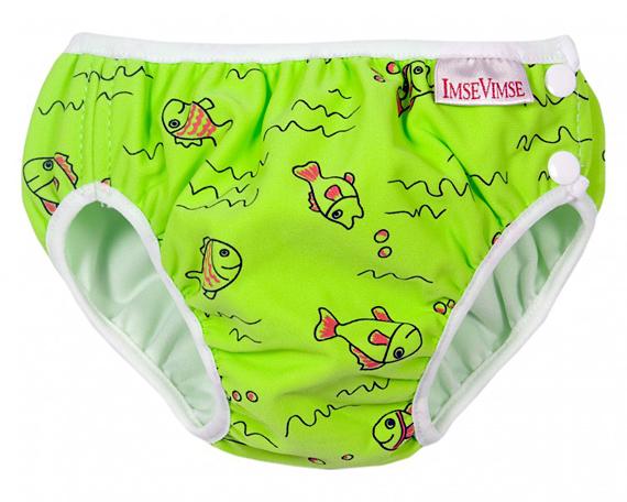 ImseVimse mosható úszópelenka - Zöld halacskás
