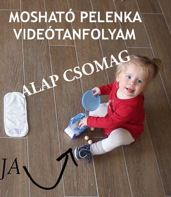 Mosható pelenka videótanfolyam ALAP csomag