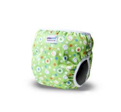 Bambinex oldalt patentos mosható úszópelenka - zöld buborék