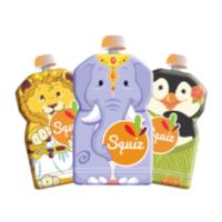 Squiz újratölthető ételtasak 3 db/csom - Oroszlán, Elefánt, Pingvin