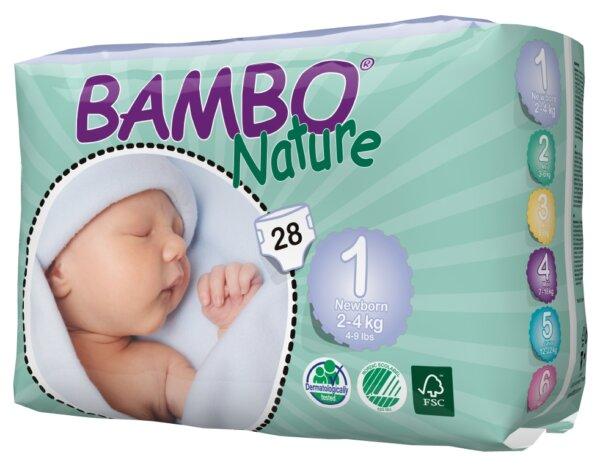 Bambo Nature Öko eldobható pelenka - 1 újszülött (2-4kg)