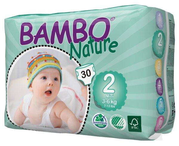 Bambo Nature Öko eldobható pelenka - 2 újszülött (3-6kg)