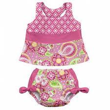 I-play - Leszoktató és úszópelenka + UV szűrős tankini - Pink Elephant