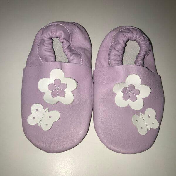 Maus puhatalpú cipő-lila virágos