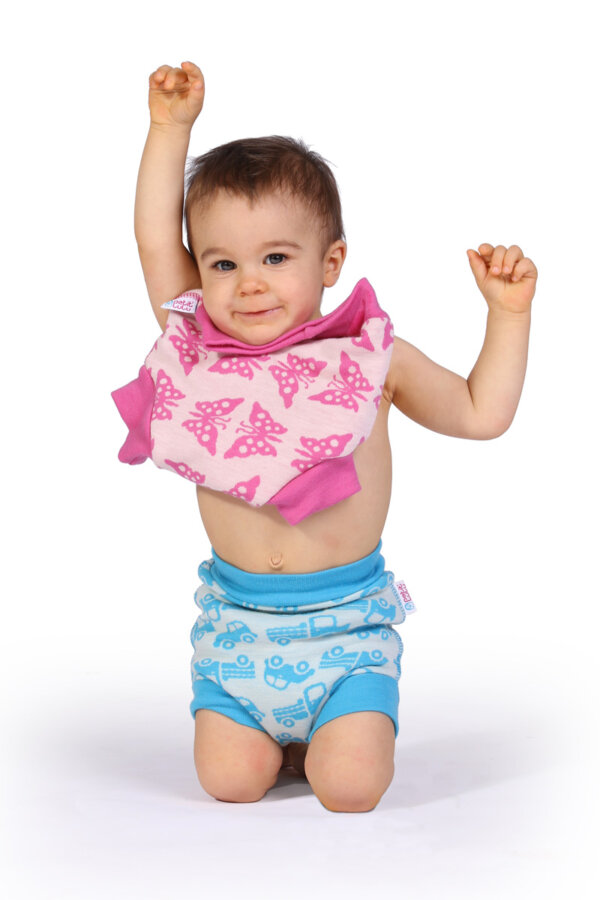 Petit Lulu gyapjú mosható pelenka külső - türkiz sünik