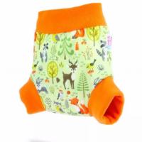 Petit Lulu nadrágfazonú PUL mosható pelenka külső - erdő