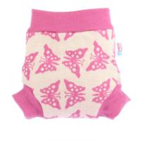 Petit Lulu gyapjú mosható pelenka külső - rózsaszín pillangók