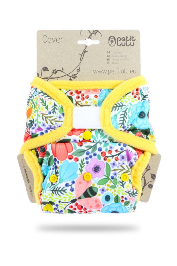 Petit Lulu PUL mosható pelenka külső - Virágzó kert