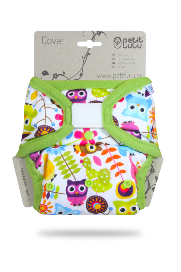 Petit Lulu PUL mosható pelenka külső - Boldog bagoly