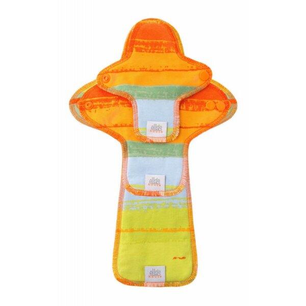 Ella's House Moon Pads - mosható női betét csomag - Jungle Orange