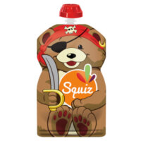 Squiz újratölthető ételtasak 1 db/csom - Kalóz medve