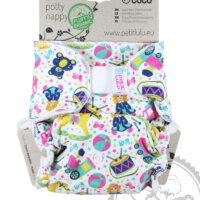 Petit Lulu ORGANIC Maxi Night - éjszakai nadrágpelenka - játék mennyország