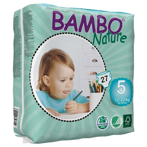 Bambo Nature Öko eldobható pelenka - 5 (12-22 kg)