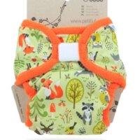 Petit Lulu XL PUL mosható pelenka külső - Erdő