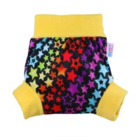Petit Lulu nadrágfazonú PUL mosható pelenka külső - szivárványos csillagok