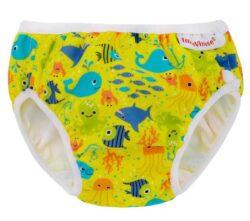 ImseVimse mosható úszópelenka - sárga tengeri állatok