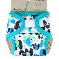 Petit Lulu PUL mosható pelenka külső - Bébi elefánt