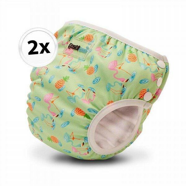 Bambinex 2in1 mosható leszoktató- és úszópelenka, 2 darab - Flamingó