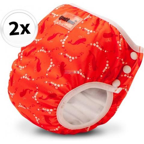Bambinex 2in1 mosható leszoktató- és úszópelenka, 2 darab - Buborék