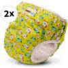 Bambinex 2in1 mosható leszoktató- és úszópelenka, 2 darab - Zöld, halacskás