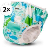 Bambinex 2in1 mosható leszoktató- és úszópelenka, 2 darab - Bálna