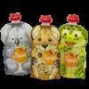 Squiz újratölthető ételtasak 3 db/csom - Kenguru, Koala, Teknős
