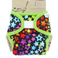 Petit Lulu PUL mosható pelenka külső - Szivárványos csillagok