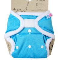 Petit Lulu PUL mosható pelenka külső - Kék