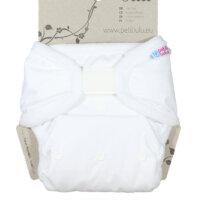 Petit Lulu PUL mosható pelenka külső - Fehér