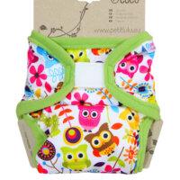 Petit Lulu XL PUL mosható pelenka külső - Boldog bagoly