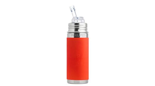 Pura TERMO® kulacs szívókával - Narancs (260 ml)