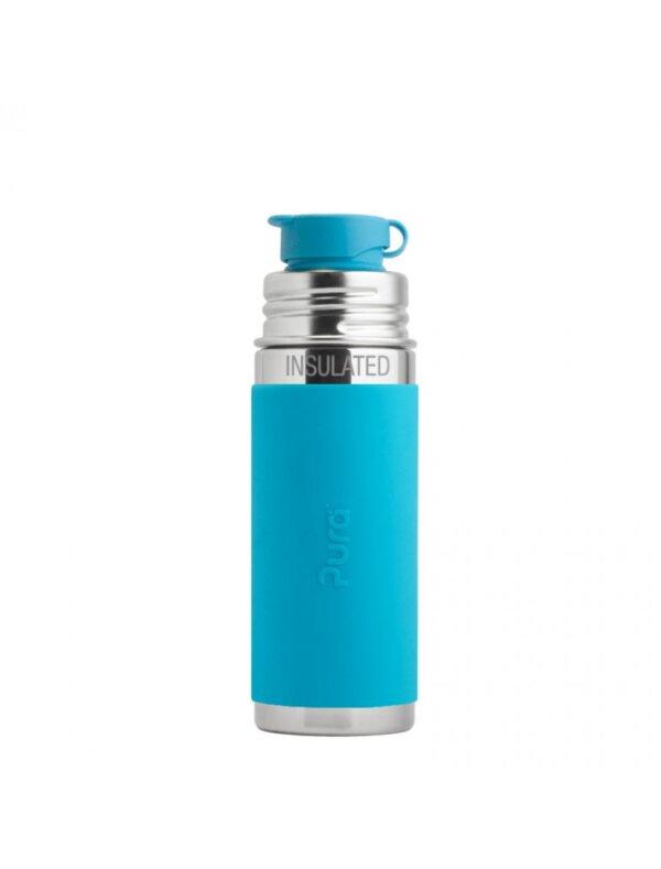 Pura TERMO® kulacs Sportkupakkal - Vízkék (260 ml)