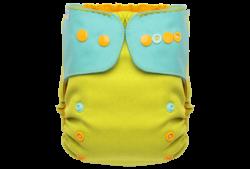 Puppi gyapjú mosható pelenka külső V3 SIO Merino - Pastel Mood