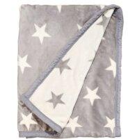 STARS takaró, csillag, szürke-fehér