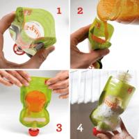 Squiz újratölthető ételtasak 2 db/csom - Sün és Pillangó + szívóka