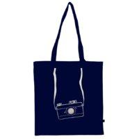 Organikus kék pamut táska