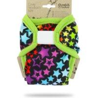 Petit Lulu PUL újszülött mosható pelenka külső - Szivárványos csillagok
