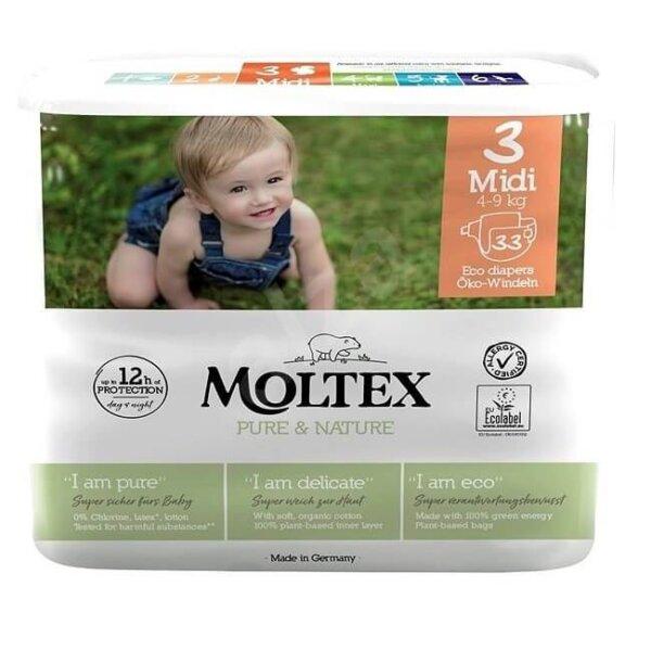 MOLTEX ÖKO pelenka 3, midi (4-9 kg), 33 db