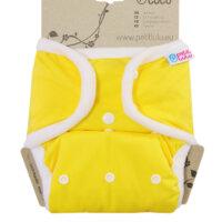 Petit Lulu PUL mosható pelenka külső - Sárga
