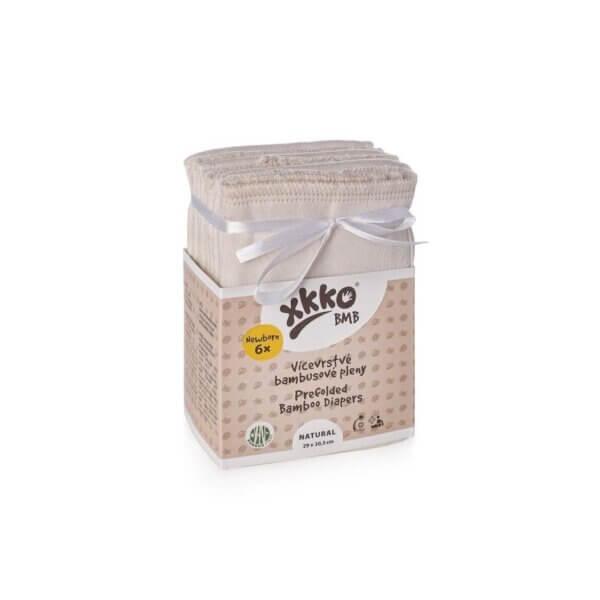 Xkko BMB bambusz prefold pelenka - Newborn (6 db)