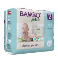 Bambo Nature Öko eldobható pelenka - 2 (3-6kg) 30 db
