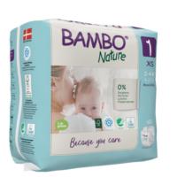 Bambo Nature Öko eldobható pelenka - 1 újszülött (2-4kg) 22db