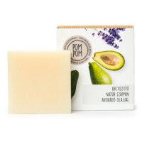 PomPom natúrkozmetikum - Arctisztító natúr szappan avokádóolajjal és levendulával