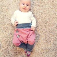 Temiti többméretes hordozós nadrág - Rózsaszín