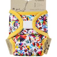 Petit Lulu PUL mosható pelenka külső prefoldtartó füllel - Virágok