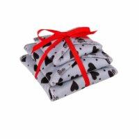 Ella's House Moon Pads - mosható női betét csomag - szürke szívecskés