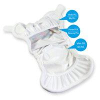 Petit Lulu PUL mosható pelenka külső prefoldtartó füllel - Gombok