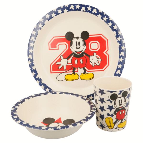 Bambusz gyermek étkészlet - Mickey Mouse (3 db-os)