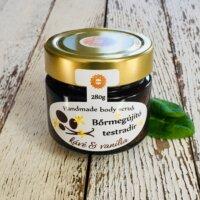 Napvirág Bőrradír Kávés parajdi sóval, organikus szőlőmag-, mandula- és olíva olajjal (280 g)