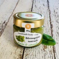Napvirág Bőrradír Menta-citromfű, parajdi sóval, organikus szőlőmag-, mandula- és olíva olajjal (280 g)